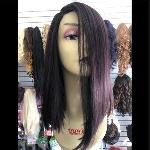 Accessories - Purple plum blunt cut bob wig